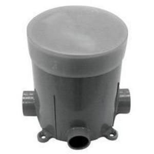 "Carlon E971FB Round Floor Box, Diameter: 5"", Depth: 6"", Non-Metallic"