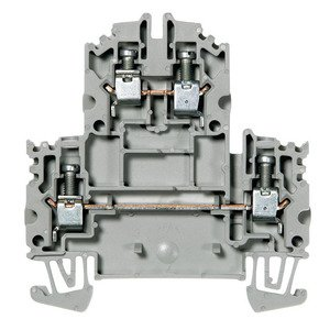 Allen-Bradley 1492-JD4 Terminal Block, 35A, 600V AC/DC, 2 Level, 2 Circuit, Gray, 4mm