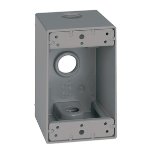 EGS WDM150 DEEP 1 GANG OUTLET BOX