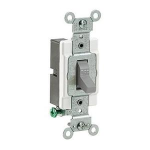 Leviton CS115-2GY 1-Pole Switch, 15 Amp, 120/277V, Gray, Side Wired, Commercial