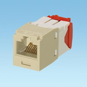 Panduit CJ5E88TGEI Snap-In Connector, Cat 5e+, Mini-Com, TX5e, UTP, Ivory