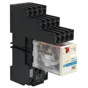 Square D RXZE2S114M Relay, Plug-In, Socket, 14 Blade, 10A, 250V AC/DC, Box Lug