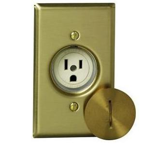 Leviton 5250 Single Receptacle, 20A, 125V, Ivory