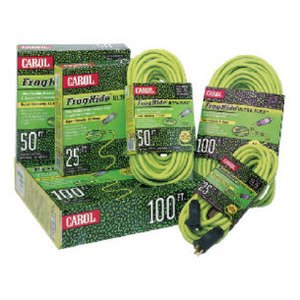 General Cable 06225.61.06 Outdoor Extension Cord, 12/3 SJOW, 25', Green, Flexible Rubber
