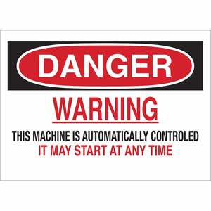 23045 MACHINE & OPERATIONAL SIGN