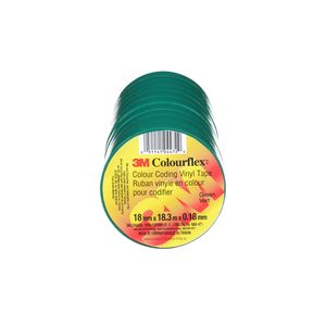 "COLOURFLEX TAPE GREEN 3/4"" X 60FT"