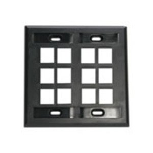 Leviton 42080-12E Wallplate, Black