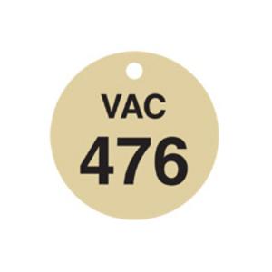 Brady 87519 BRA 87519 TAG BRASS RND 1.5 VAC