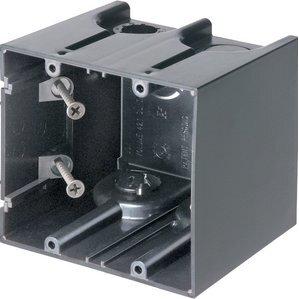 """Arlington F102 Switch/Outlet Box, 2-Gang, 3-1/2"""" Deep, Non-Metallic"""