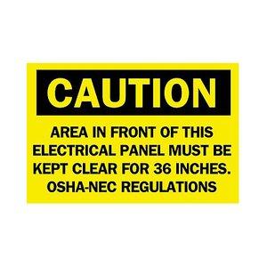 Brady 84827 Electrical Hazard Sign