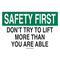 25311 SAFETY SLOGANS SIGN
