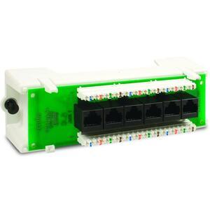 Leviton 47605-C5B Expansion Board, Cat 5E, Voice Date, Stand Alone Module, 6 Ports