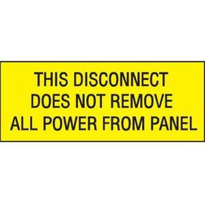 "Panduit PVS0204C178YA Vinyl Adhesive Sign, 2.25""x4.50"", 'This"