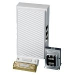 Carlon CK225 Wired Door Chime Kit, (2) Illuminated Pushbuttons, 16V, White *** Discontinued ***