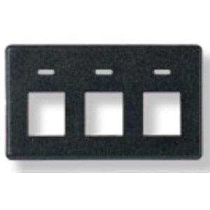 Tyco Electronics 558107-1 Flex-Mode, 3-Port, Flush Faceplate, Black