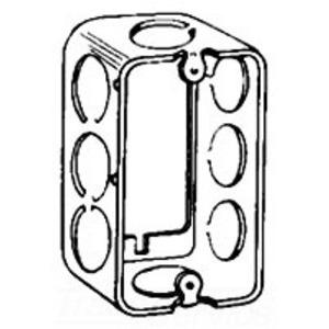 "Cooper Crouse-Hinds TP592 Handy Box Extension Ring, 1-1/2"" Deep, 1/2"" KOs, Drawn, Metallic"