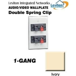 Leviton 40952-2PI Wallplate, Ivory *** Discontinued ***