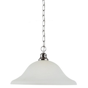 Sea Gull 65940-962 Pendant, 1-Light, 150W, Brushed Nickel