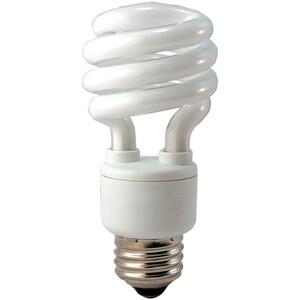 Eiko SP13/41K Compact Fluorescent Lamp, Twister, 13W, 4100K