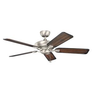 "Kichler 300117NI 52"" Ceiling Fan, 5-Blade, Brushed Nickel"