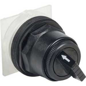 Square D 9001SKS34B Selector Switch, 2 Position, 30mm, Operator Only, Black Knob