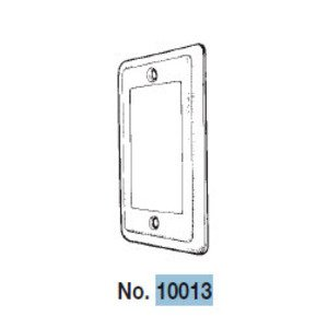 Mulberry Metal 10013 Handy Box Cover, Type: (1) GFCI, Drawn, Metallic