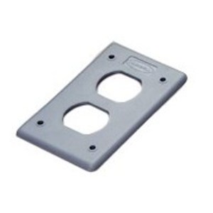Hubbell-Wiring Kellems HBLP8FS POB COVER PLATE, DUP, GRAY