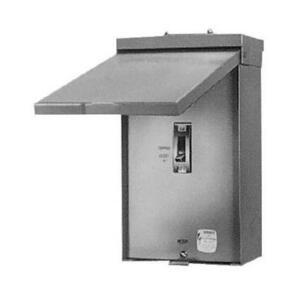 GE THQMV150NRE Breaker Enclosure, 150A, 120/240VAC, NEMA 3R, 22kAIC, Complete