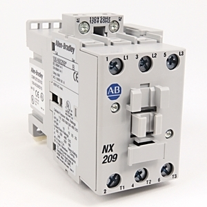 Allen-Bradley 100-NX209D10 Contactor, IEC, Definite Purpose, 40A, 120VAC Coil, 3P, 1NO