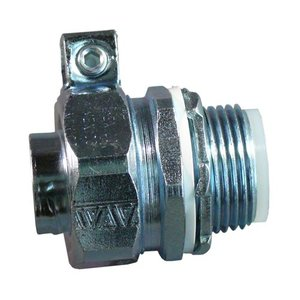 """Appleton STB-50L Liquidtight Grounding Connector, Straight, 1/2"""", Insulated, Steel"""