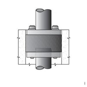 "OZ Gedney CSMI-500P Conduit Sealing Bushing, Size: 5"", 1 to 4 Wire, Malleable Iron"