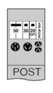 Midwest U075GP4 100A POST 50/30/20