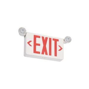 Chloride VLLCR Emergency Combo Exit/Light, LED, Red Letters