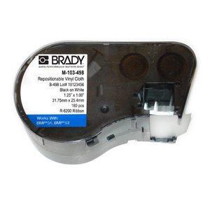 """Brady M-103-498 MSERIES B498 WHT 1.25""""X1.00""""160  ROLL"""
