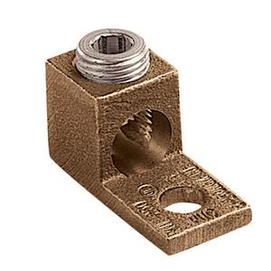 Panduit PNL-1/0-L Copper Mechanical Lug, 1 Hole, Straight