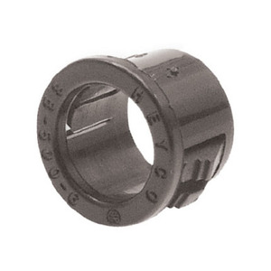 "Heyco 2210 Snap Bushing, 1-3/8"", Insulated, Nylon, Black"