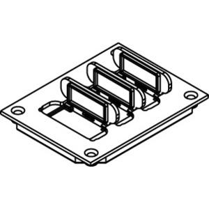 Wiremold 829PFLRT-BLK Floor Box Cover, 1-Gang, (3) Flip Lids, Non-Metallic