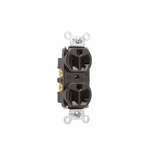 Pass & Seymour 5362 Duplex Receptacle, 20A, 125V, Brown, 5-20R