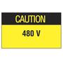 PLD-91 PANDUIT CAUTION 480V LABEL