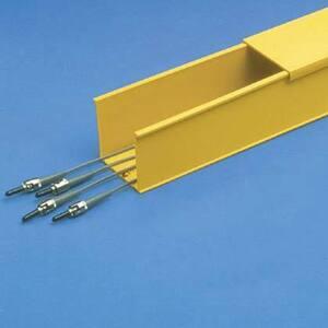 """Panduit S2X2YL6NM Solid Wall Duct, 2"""" x 2"""" x 6', Non-Metallic, Yellow"""