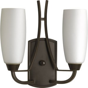 Progress Lighting P7127-20 Wall Light, 2 Light, 60W, Antique Bronze *** Discontinued ***