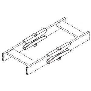 "Chatsworth 11301-701 Cable Tray Butt Splice Kit, 1-1/2"" x 3/8"""