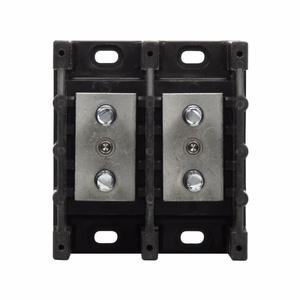 """Eaton/Bussmann Series 16390-2 Stud-Stud Block, 2-Pole, LineLoad: 3/8"""" x 1-1/8"""" Stud, 600V"""