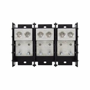 "Eaton/Bussmann Series 16582-3 Connector-Stud Block, 3P, Line (2)6-500 Cu/Al, Load (2)3/8""x1-5/8"" Stud"
