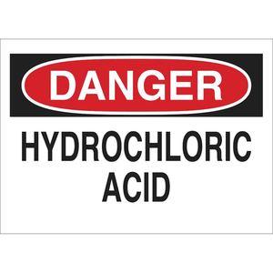 25448 CHEMICAL & HAZD MATERIALS SIGN