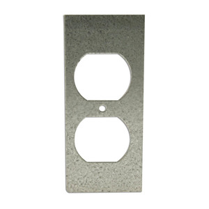 Wiremold SGT-DP Duplex Receptacle Device Plate, 1-Gang, Metallic
