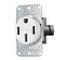 Hubbell-Wiring Kellems RR450FW RECPT, SB, 50A 125/250V, 3P4W, FLNG, WH