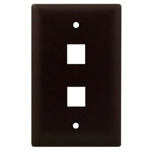 ON-Q WP3402-BR 1G WALL PLATE 2-PORT BR (M10)