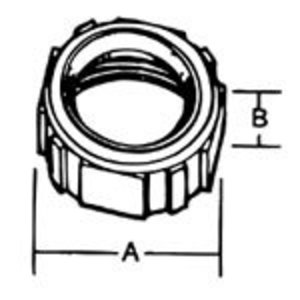 "Thomas & Betts BI-906 Bushing, Insulated, Size: 2"", Material/Finish: Iron/Zinc"