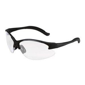 3M 11680-00000-20 Protective Eyewear, Anti-Scratch Clear Lens, Black Wrap-Around Half Frame